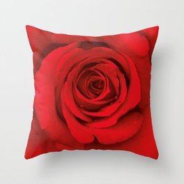 Lovely Red Rose Throw Pillow