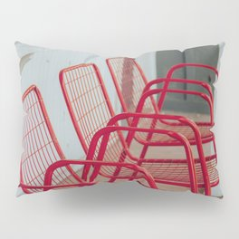 Red Chairs Pillow Sham