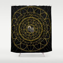 Oakland University Mandala Shower Curtain
