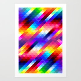 Abstract Colorful Decorative Squares Pattern Art Print