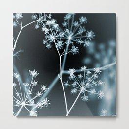 Dark Floral. Midnight Glow Metal Print