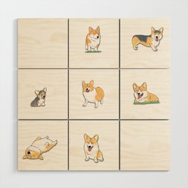 Corgi Wood Wall Art