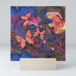 Butterflies Marble Paradise #2 Mini Art Print