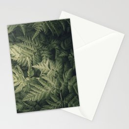SHADED GREEN FERN Stationery Cards