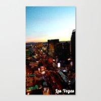 las vegas Canvas Prints featuring Las Vegas by Natasha Jones