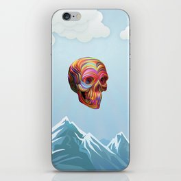 Skull Passes By iPhone Skin