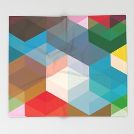 Triangles and more shapes Throw Blanket