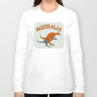 australia Long Sleeve T-shirts featuring Kangaroo Australia by mailboxdisco