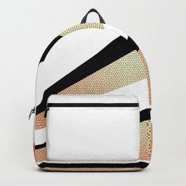 Sundown Retro Abstract Golden Sun Backpack