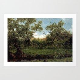 Martin Johnson Heade - Brookside (Asters in a Field) Art Print