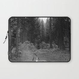 Backpacking Camp Fire B&W Laptop Sleeve