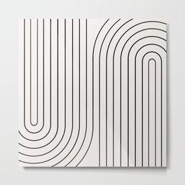 Minimal Line Curvature I Metal Print