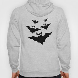 Cool cute Black Flying bats Halloween Hoody