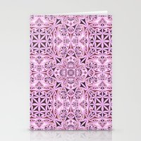 wallpaper Stationery Cards featuring Pink kaleidoscope wallpaper by David Zydd