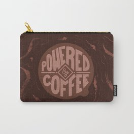 powered by coffee and swirls Carry-All Pouch