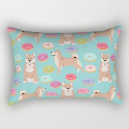 Shiba inu dog breed donuts pet gifts must have pure breeds shiba inus doughnuts Rectangular Pillow