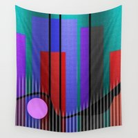 jazz Wall Tapestries featuring Jazz Band by Kristine Rae Hanning