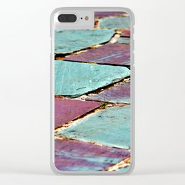 Colorful Stepping Stones Clear iPhone Case