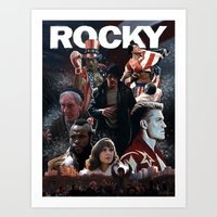 saga Art Prints featuring Rocky Saga by Saint Genesis