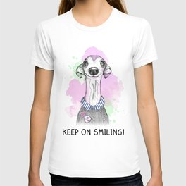 Italian Greyhound smiles T-shirt