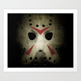 Slasher Hockey Mask Art Print