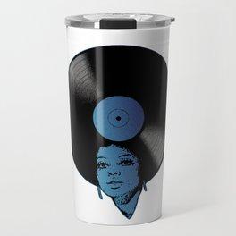 Afrovinyl (Kinda Blue) Travel Mug