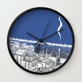 On this side of the wall Wall Clock