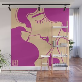 Fluffy French Kiss Wall Mural