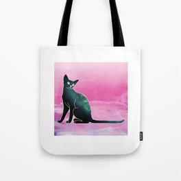 Space cat from hell Tote Bag