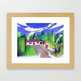 Virtual Plein Air: Ireland Country House Framed Art Print