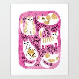 Fat Cats Art Print