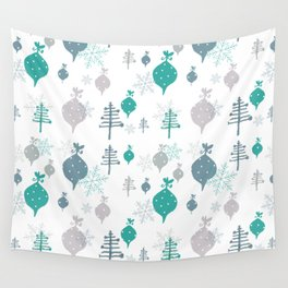Christmas white ornaments Wall Tapestry