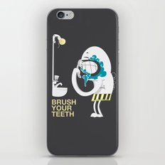 Brush your teeth iPhone & iPod Skin