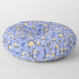 Peach Flowers on Lilac - Floral Pattern Floor Pillow