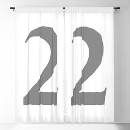 2 (GRAY & WHITE NUMBERS) Blackout Curtain