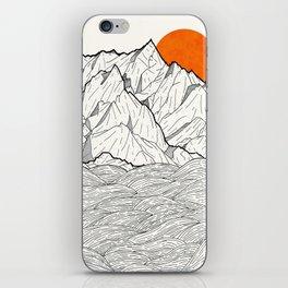 The orange sun iPhone Skin