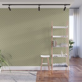 Grape Vine Purple on Earthy Green Parable to 2020 Color of the Year Back to Nature Angled Grid Wall Mural
