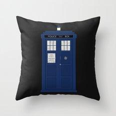Doctor Who's Tardis Throw Pillow