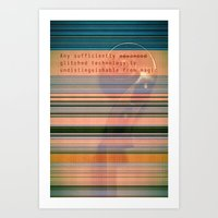 Glitch Magic Art Print