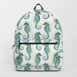 Seahorse: Green Backpack