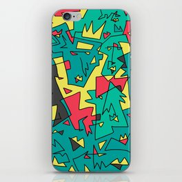 Face Pattern 90's edition iPhone Skin