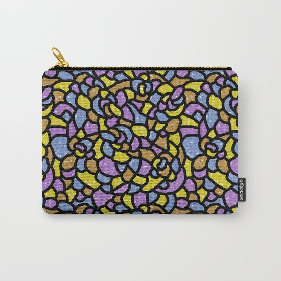 Mosaic Tiles Random Shaped Carry-All Pouch