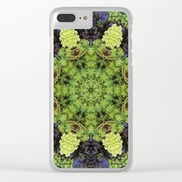 Filigree Foliage Kaleidoscope Clear iPhone Case
