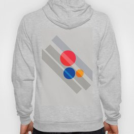 Abstract Suprematism Equilibrium Art Red Blue Yellow Hoody