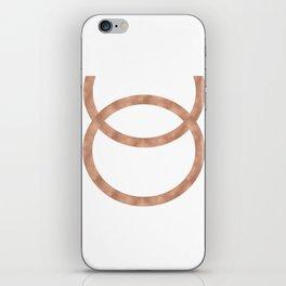 Rose gold circles of infinity iPhone Skin