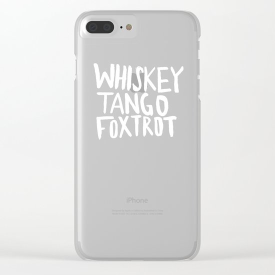 Whiskey Tango Foxtrot x WTF Clear iPhone Case