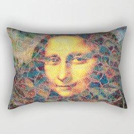 Mona Lisa Mosaic Rectangular Pillow
