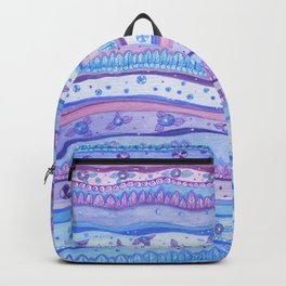 Pink And Blue Stripes Rose Quartz And Serenity Forest Backpack