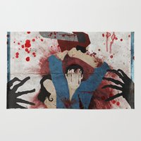 evil dead Area & Throw Rugs featuring Evil by Spectacle Photo