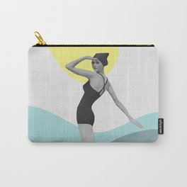 Swimmer Collage Carry-All Pouch